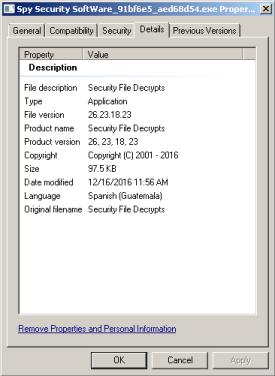 malware-properties