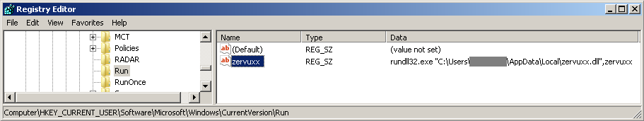 Registry Run