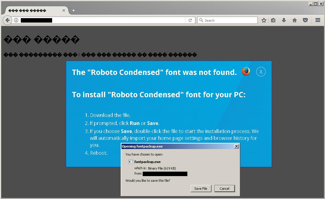 "Roboto Condensed"" Social Engineering Attack Targets Both"