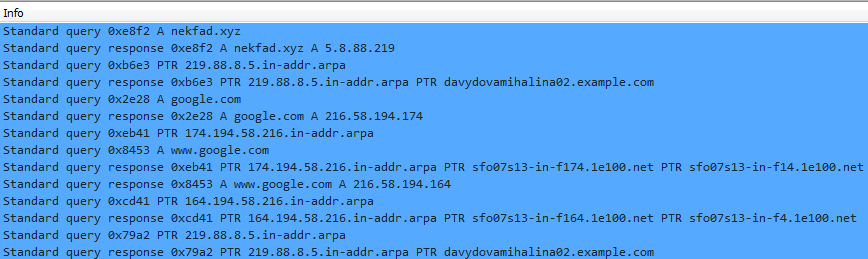 post infection dns queries
