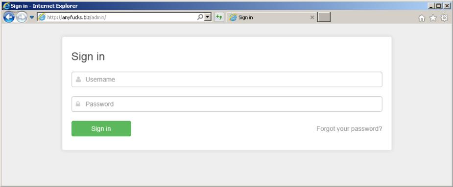 Keitaro TDS login panel
