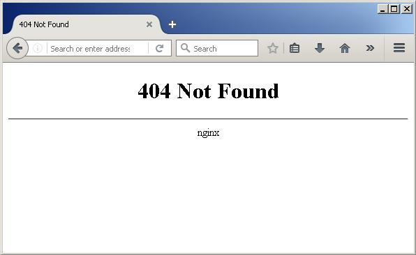 firefox 404 Not Found