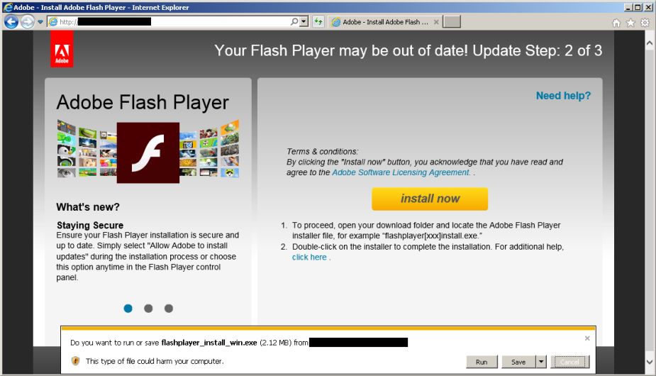 fake flash player update edited