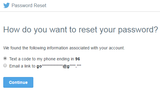 Twitter password reset 2