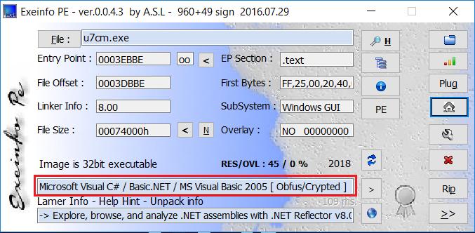 Exeinfo PE .Net Framework