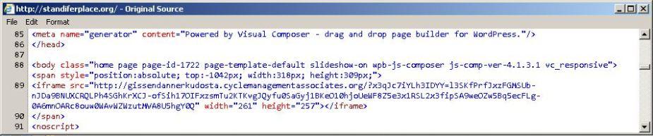 compromised-site-showing-pseudodarkleech-script