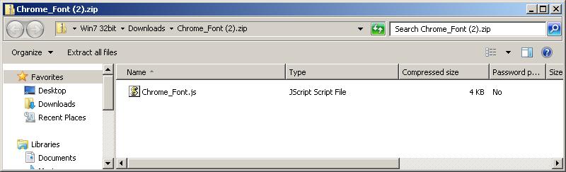 Chrome JScript file