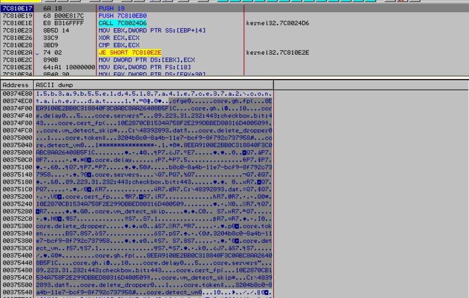 checkbox.bit CoreBot banking Trojan