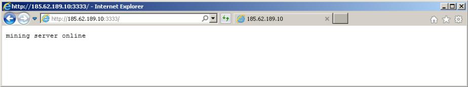 Mining server status