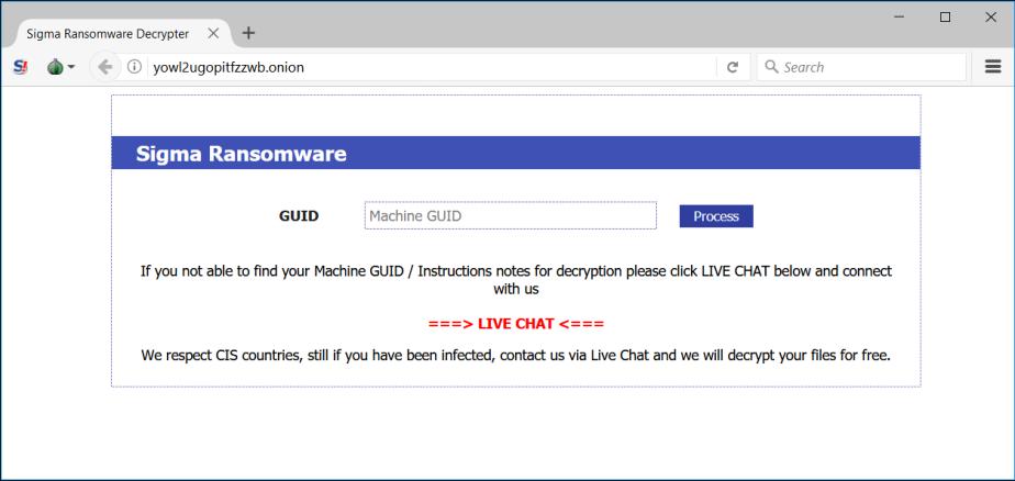 Signa ransomware machine GUID