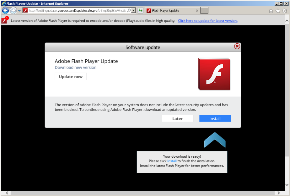 Another fake flash player update